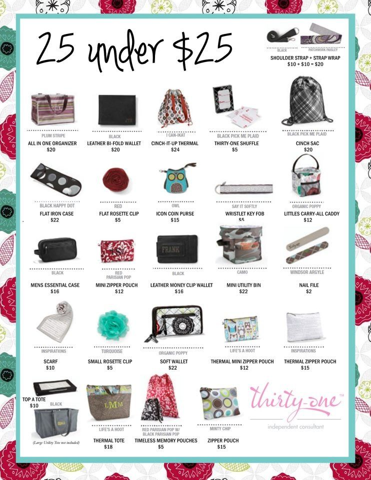 25 gift ideas from Thirty-One all under $25! #gift idea #thirty-one - 25 Gift Ideas From Thirty-One All Under $25! #gift Idea #thirty-one
