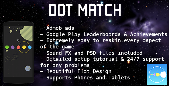 Dot Match Color Match Game Admob Leaderboard Business Icons
