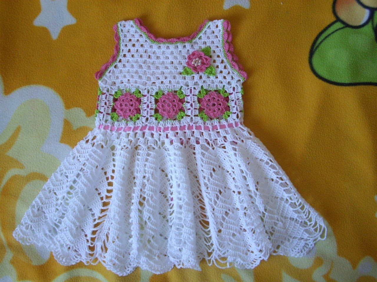 Vestido Para Niña Tejidos A Crochet Parte 1 Vestidos De
