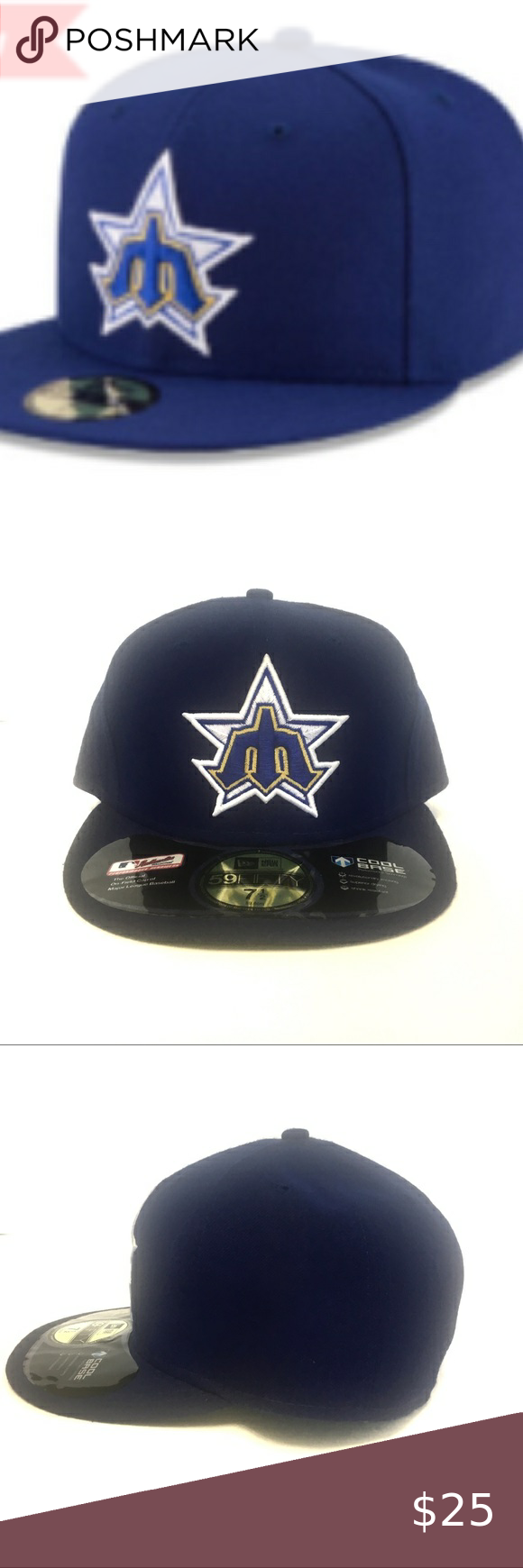 New Era Seattle Mariners 59fifty Fitted Hat Fitted Hats New Era Seattle Mariners