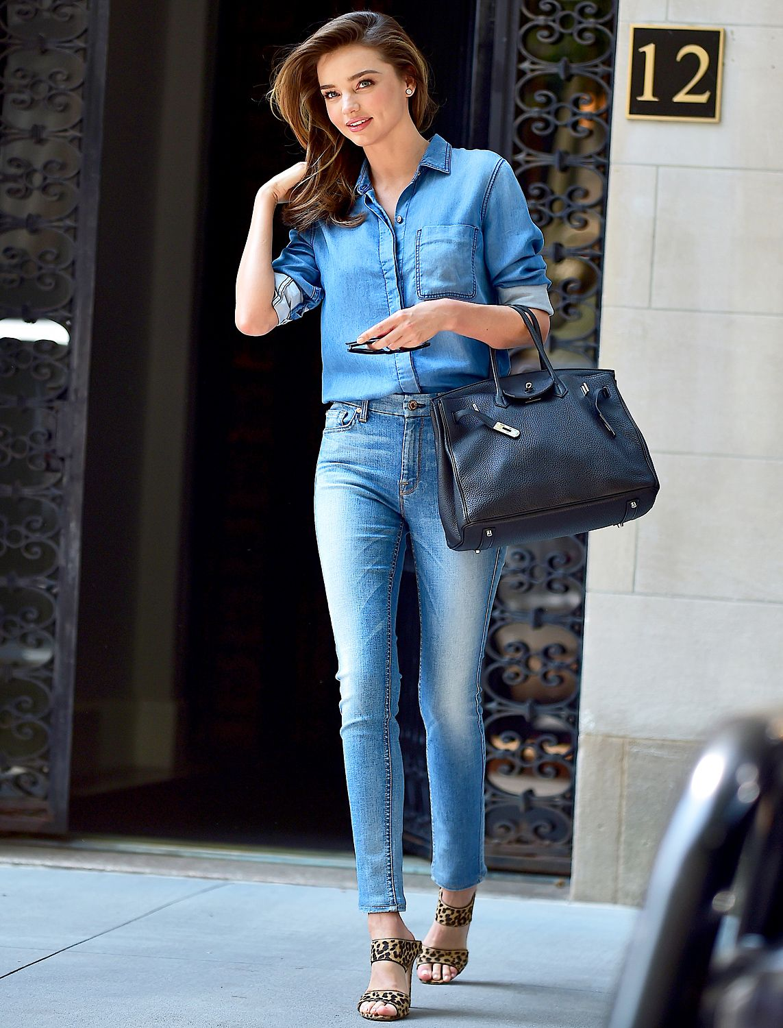 How to Pull Off Denim-on-Denim a la Miranda Kerr | Pinterest ...