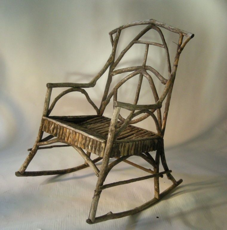 Awesome VINTAGE ADIRONDACK TWIG ROCKING CHAIR | From A Unique Collection Of Antique  And Modern Rocking Chairs