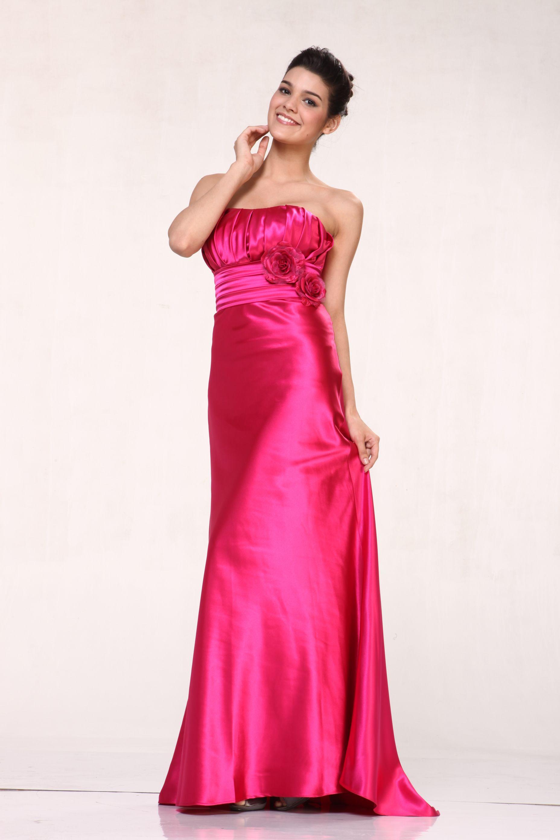 Lujoso Vestidos De Dama De Rosa Menores De 50 Años Composición ...