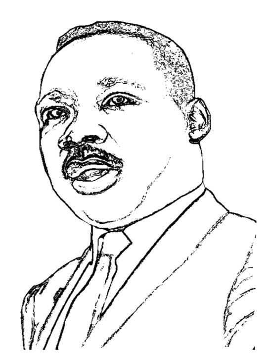Martin Luther King Pictures Coloring Page | Kids Coloring Pages ...