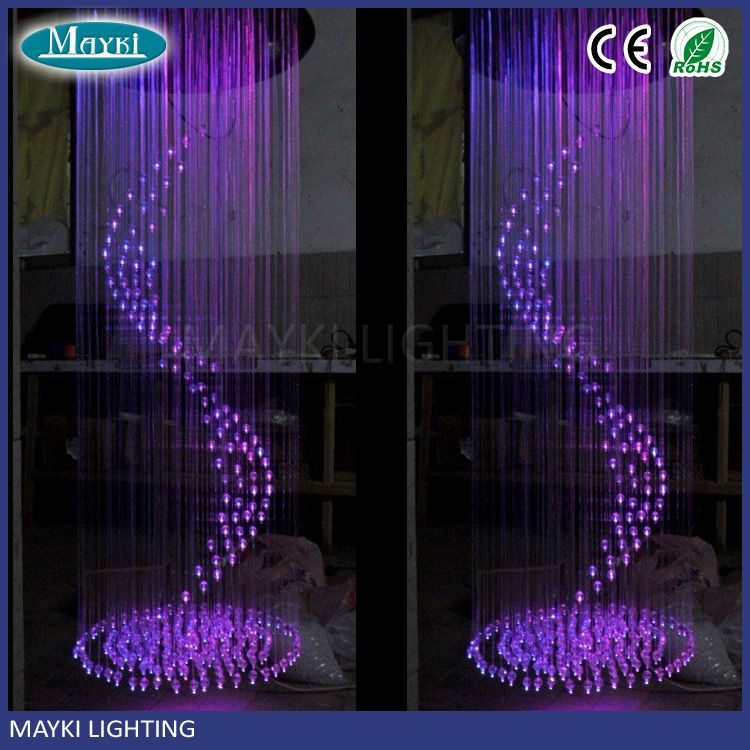 Remote Control Hotel Lobby Fiber Optic Chandeliers For