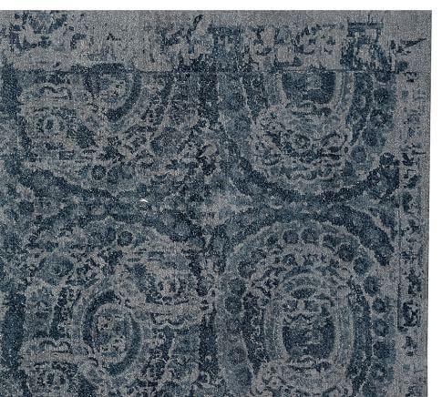 Bosworth Hand Tufted Wool Rug Gray Wool Rug Pottery Barn Rugs