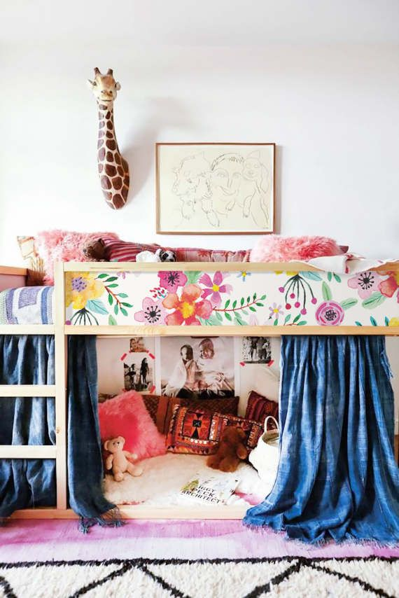 Kura bed ikea vibrant floral sticker set pack by stickerscoloray v 39 s room cameretta ikea - Cameretta neonato ikea ...