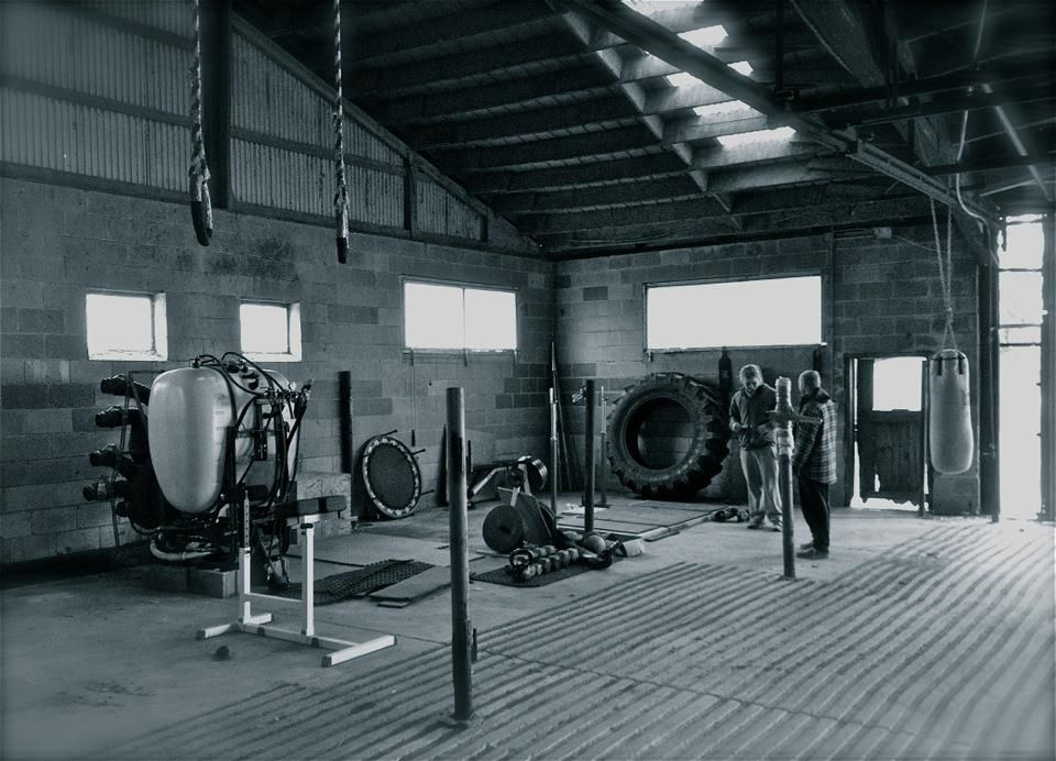 Check Out My Barn Gym Rings Tires Weights Kettlebells Stuff To Punch We Got Everything Gym Room At Home Home Gym Set Dream Gym