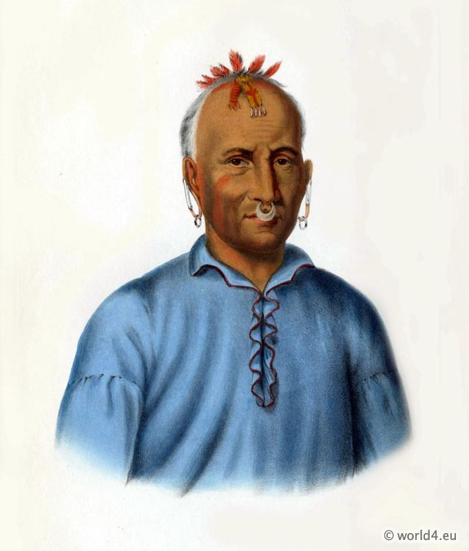KISHKALWA a Shawnee Chief. American native 1824. | First Nations ...