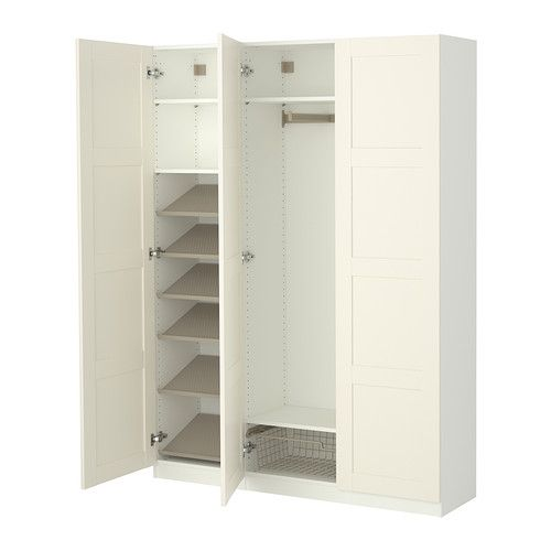 PAX Wardrobe with interior organizers IKEA Garage coat closet