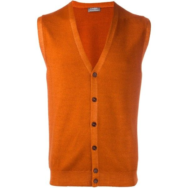 Barba button down knitted waistcoat (7.980 RUB) ❤ liked on ...
