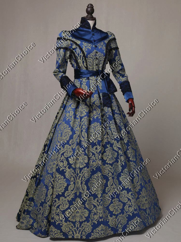 Victorian Regal Queen Brocade Game of Thrones Ball Gown Theater ...
