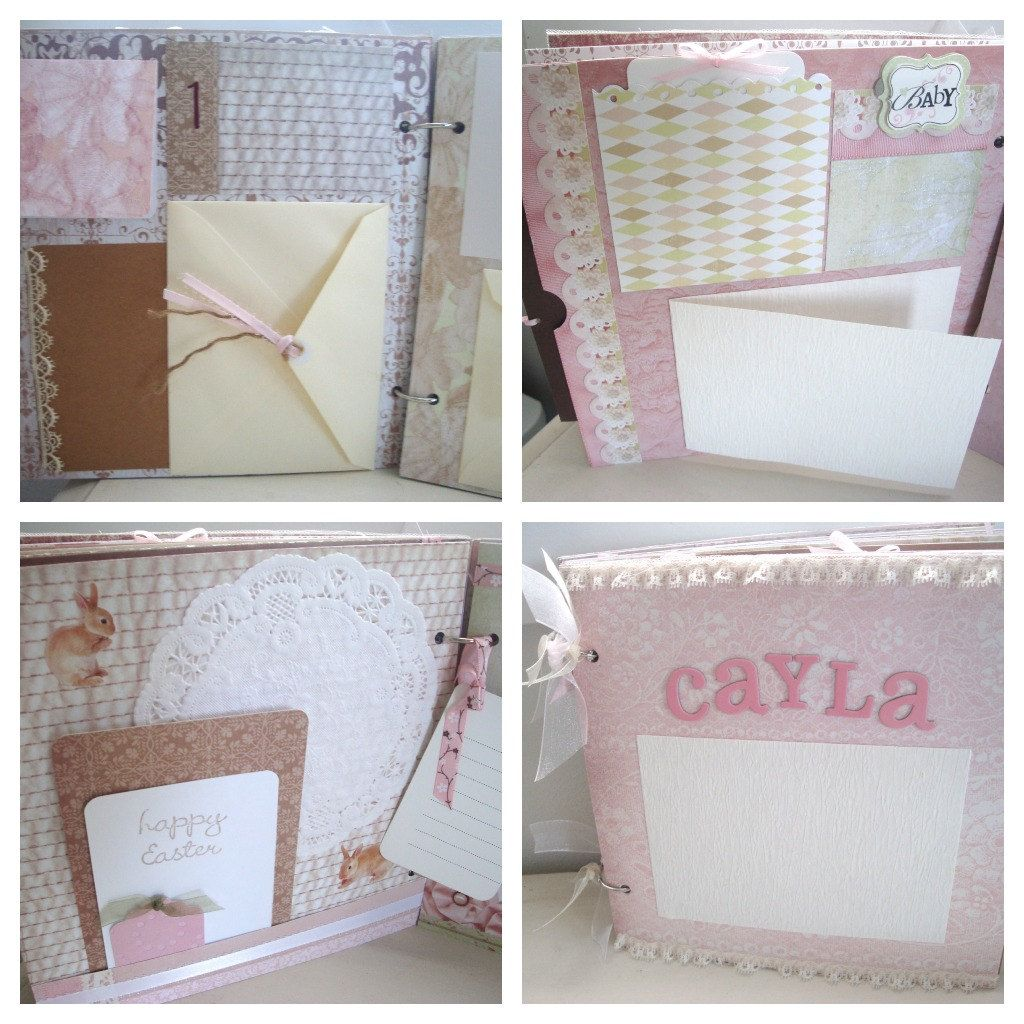 How to scrapbook baby book - Baby Girl Scrapbook 20 Pages Album 3d Custom Baby Book First Year