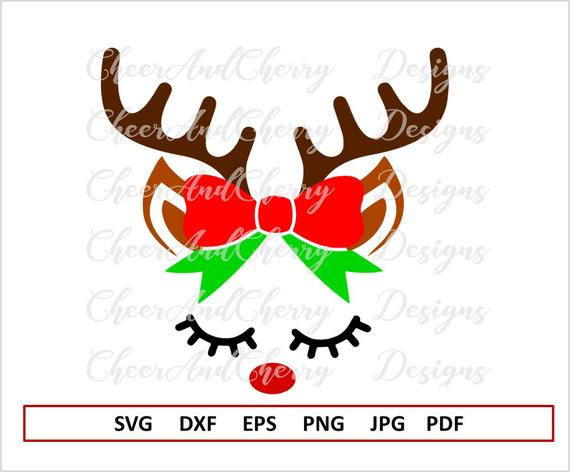 Reindeer Face Svg For Cricut Christmas Svg File For Silhouette Etsy In 2020 Reindeer Face Christmas Svg Files Christmas Svg