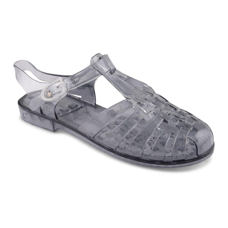 4d1c4d70e697 Para-Mujer-Damas-Jelly-Sandalias-Planas-Verano-Playa-Retro-Ninas-Flip-Flop-Zapatos-Talla