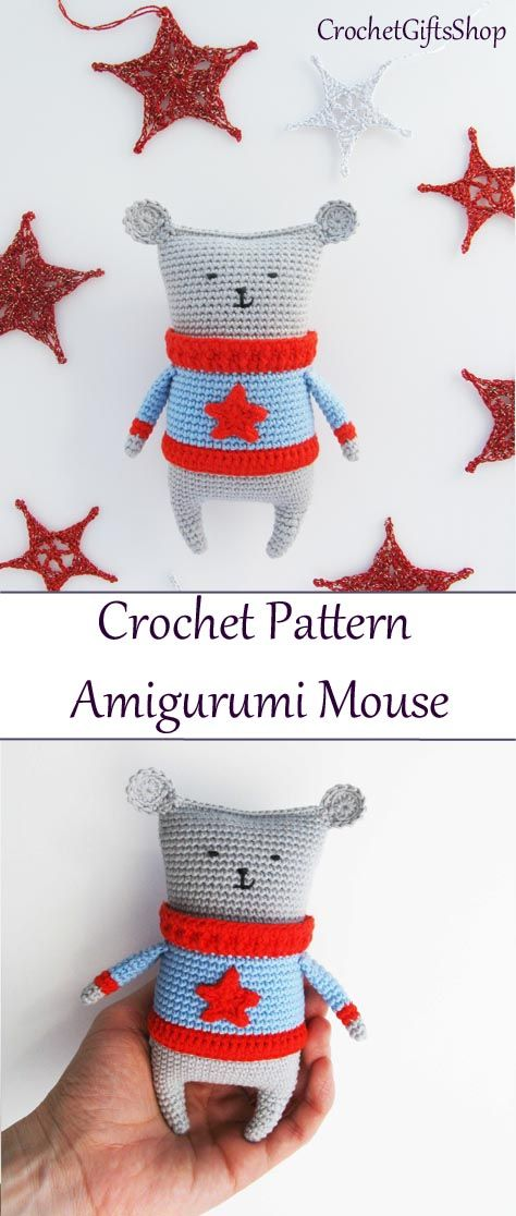 Amigurumi Mouse in sweater pattern by Irina Mulyavko | Crochet ...