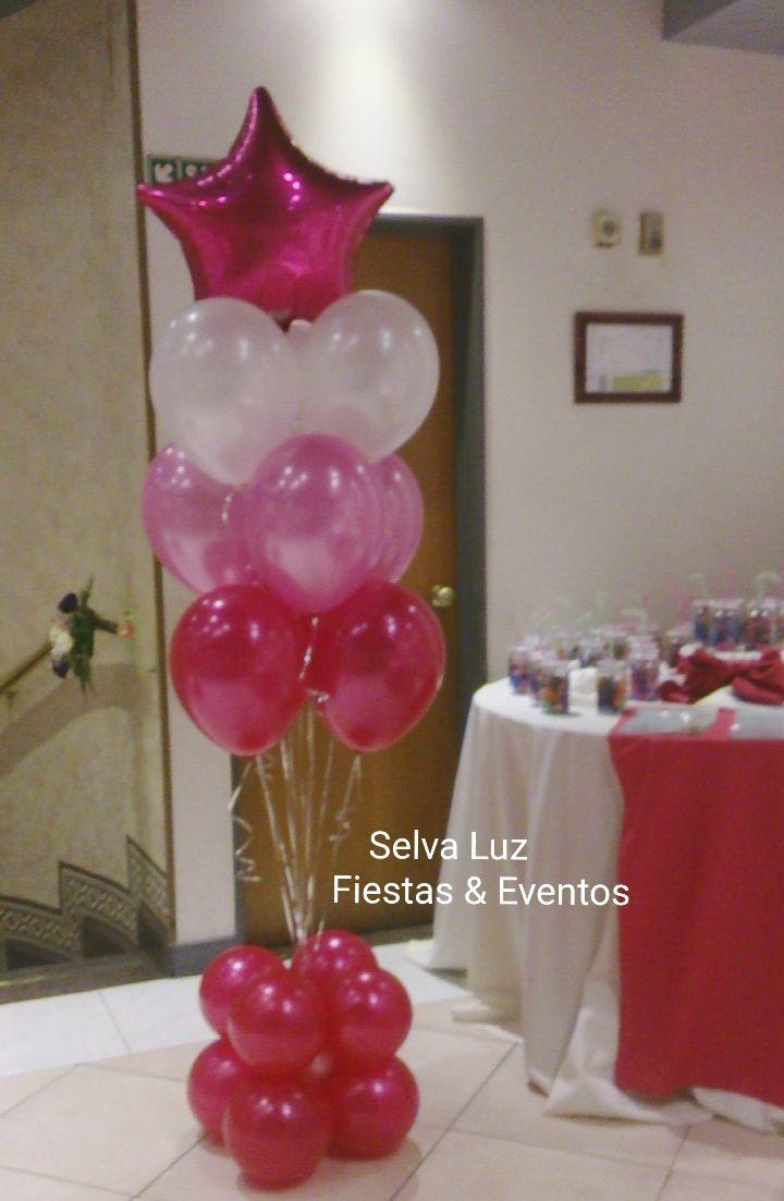 Bouquet De Globos Con Helio Decoracion Con Globos Decoracion Fiesta Cumpleanos Globos