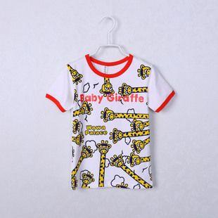 C633外贸童装 男童 卡通印花纯棉短袖T恤 汗衫 Y0323-15Z1