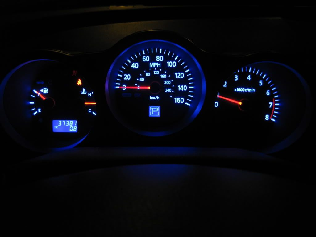 Fs Speedometer W Blue Led Mod 04 06 Maxima Forums Nissan Maxima Led Blue