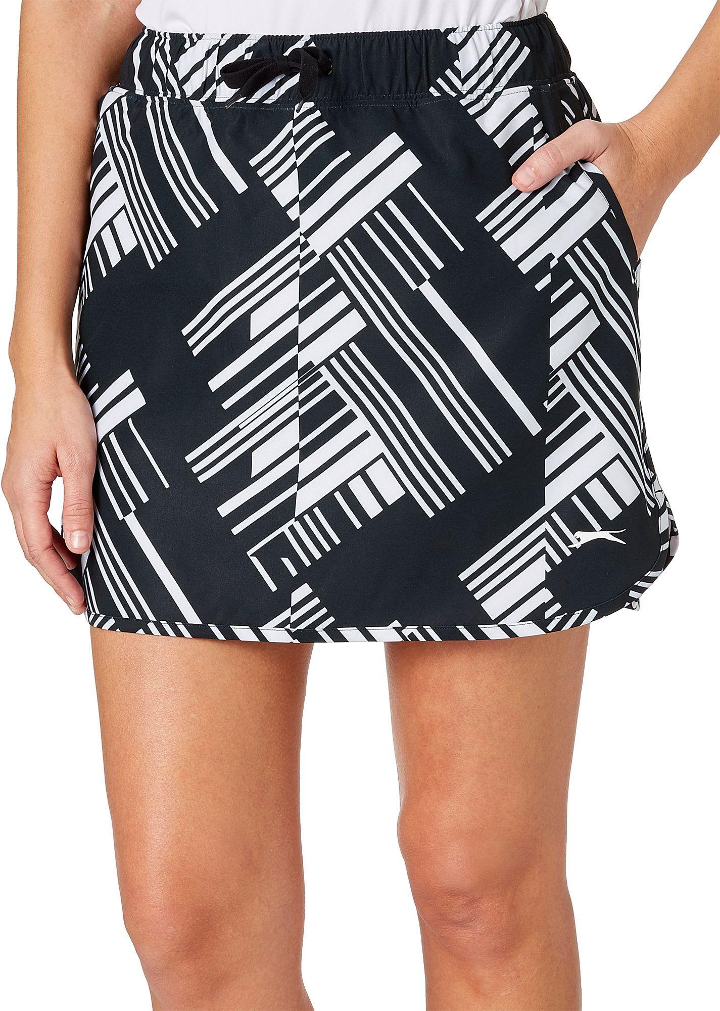 47bc6374f5d Slazenger Women's Lite Bright Collection Printed Pull On Golf Skort, Size:  Medium, Black