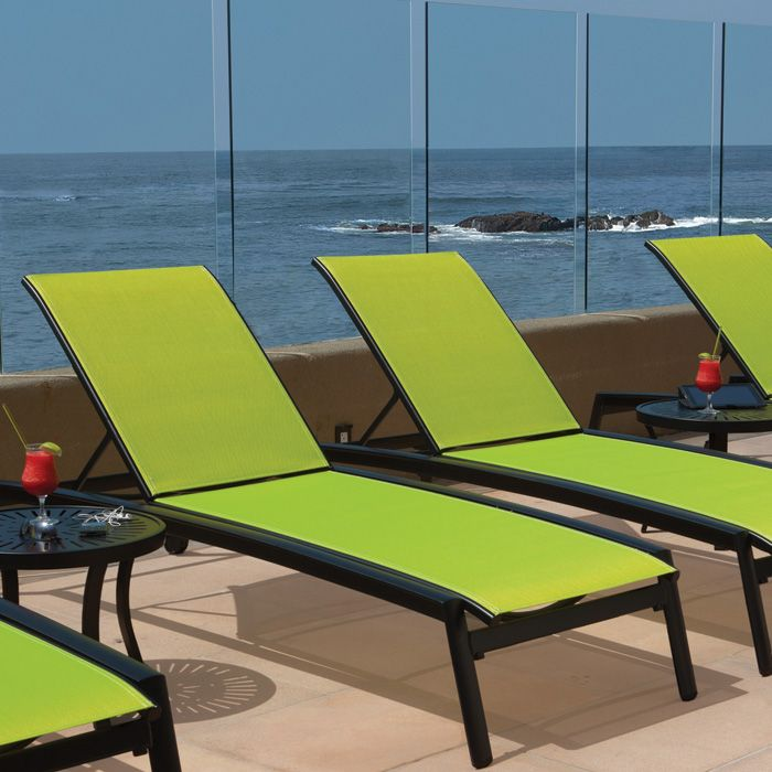 Tropitone Sling Lime Patio Furnishings Luxury Modern Furniture