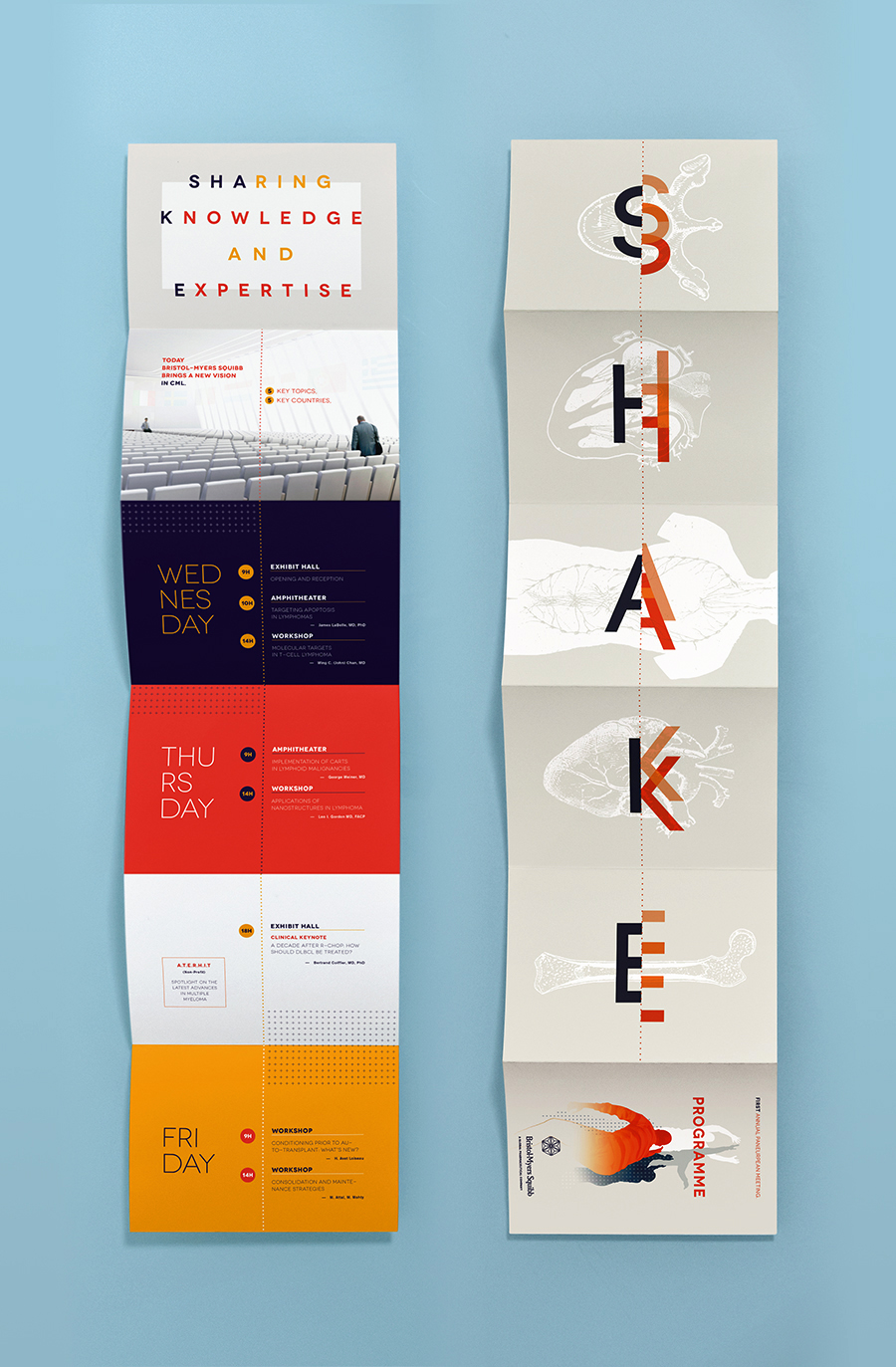 Brisol Myers Squibb Event Branding Materials On Behance Pamphlet Design Corporate Brochure Design Booklet Design