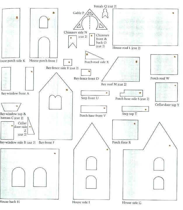 blueprint victorian gingerbread house template  victorian gingerbread house template free | Gingerbread ...