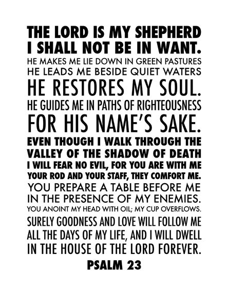 graphic relating to Printable 23rd Psalm named kristen stewart did a custom made structure of Psalm 23 // no cost