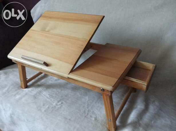 Drewniany Stolik Pod Laptopa Netbooka Do łóżka Kielce