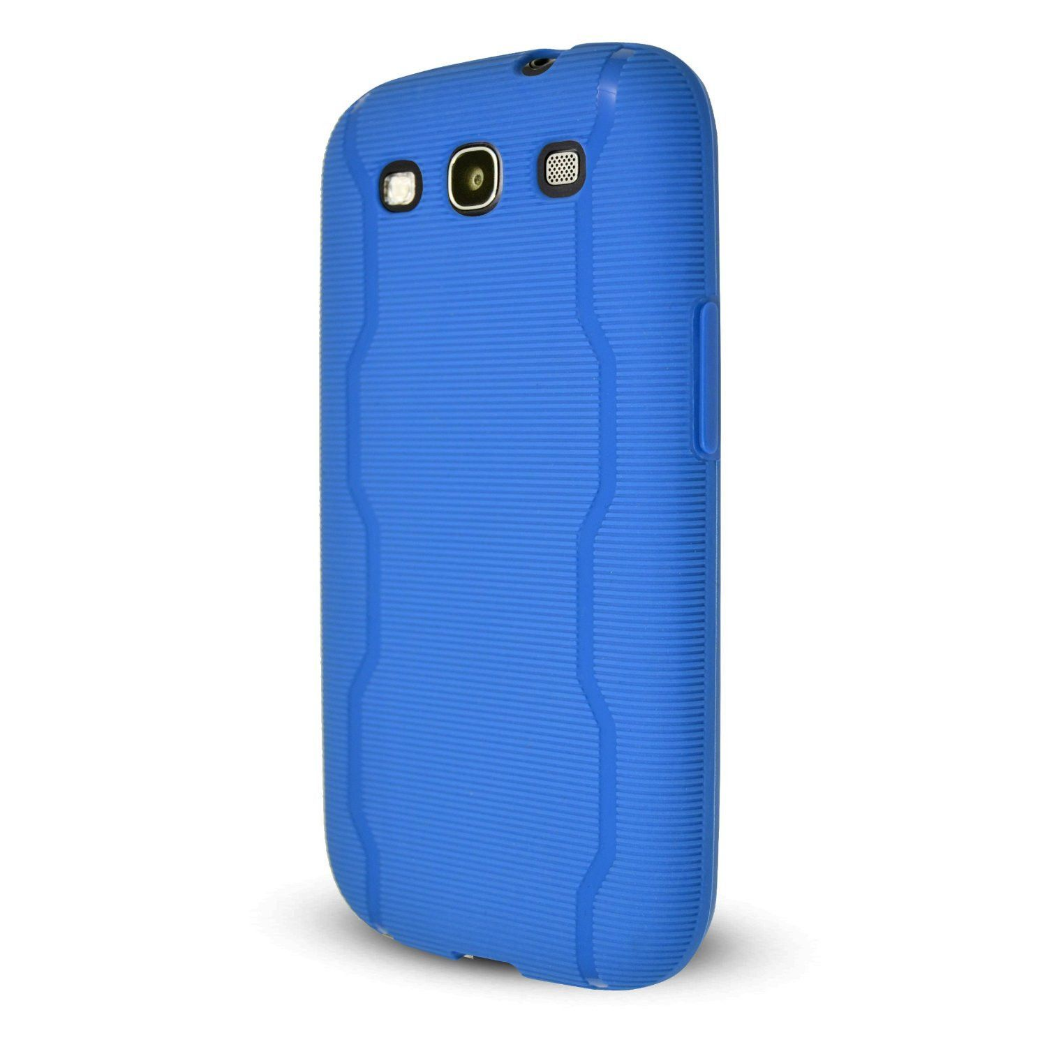 Technocel Textured Slider Skin Cover for Samsung Galaxy S3 (Blue) - SAL710SSTBL-Z