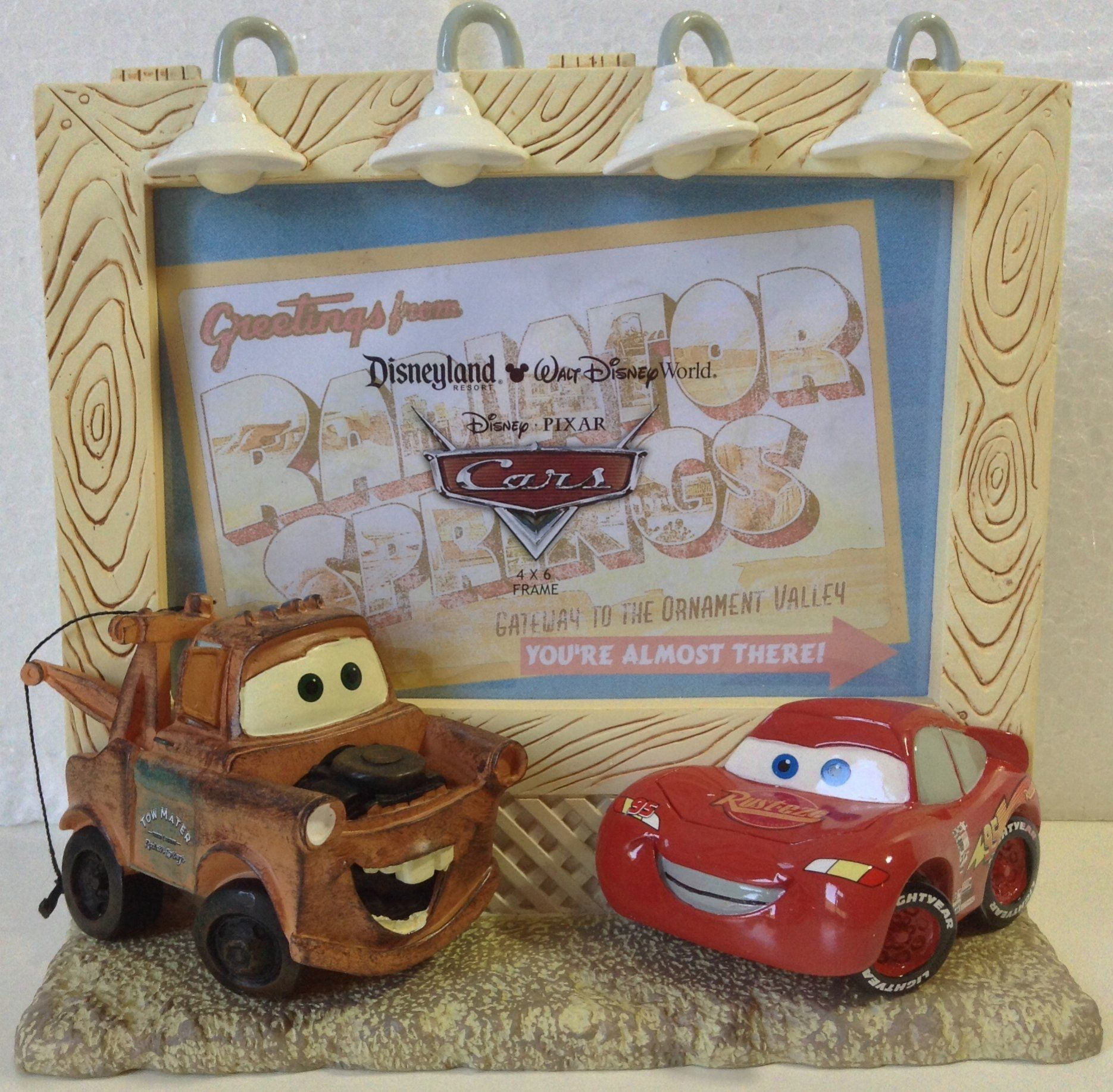 "Amazon.com - DISNEY PARKS CARS RESIN PICTURE FRAME 4""X6"" Lightning McQueen & Tow Mater NEW! -"