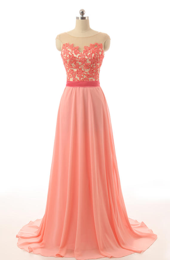 Orange Prom Dresses Full Coverage