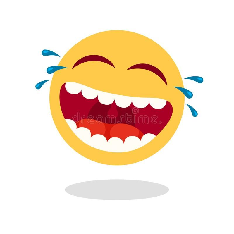 Laughing Smiley Emoticon Cartoon Happy Face With Laughing Mouth And Tears Loud Laugh Vector Icon Vector Illustration Emoticon Smiley Emoji Smiley Face Icons