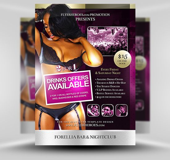 Forellia Free Bar Flyer Template Psd Photoshop Flyer Template