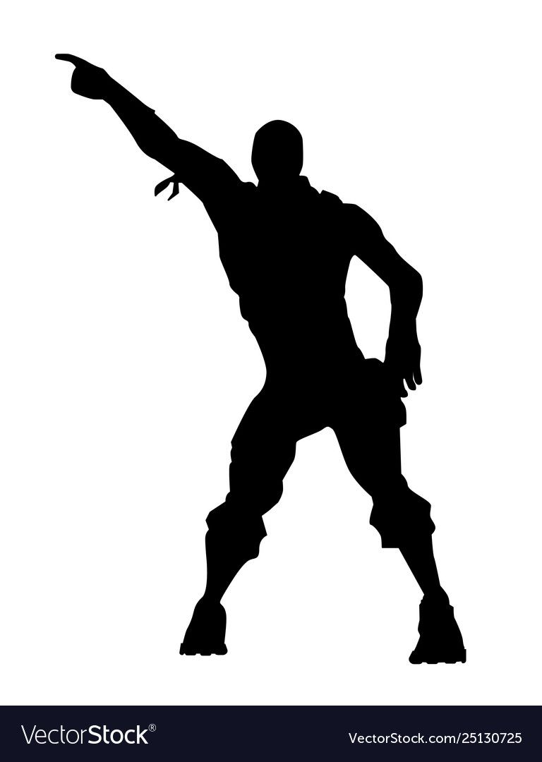 Fortnite Concept Silhouette Of A Man In A Dance Pose Dance Icon Vector Illustration Fortnite Download A Free Previe Dance Silhouette Animal Muppet Fortnite