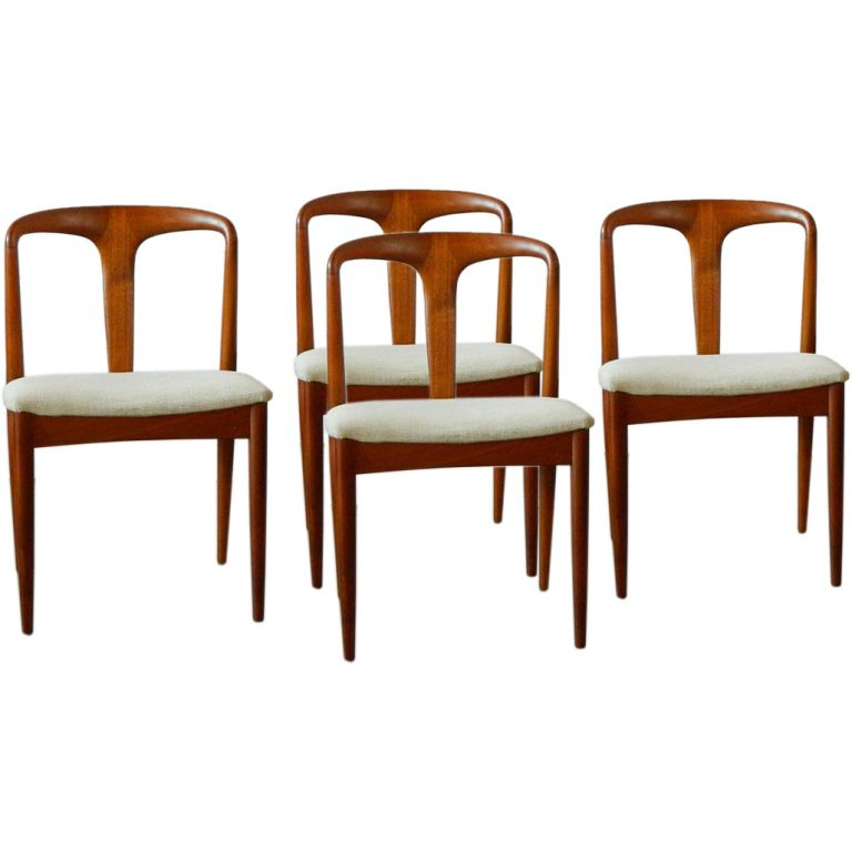 "Johannes Andersen ""juliane"" Solid Teak Dining Chairs  Teak Endearing Scandinavian Teak Dining Room Furniture Design Decoration"