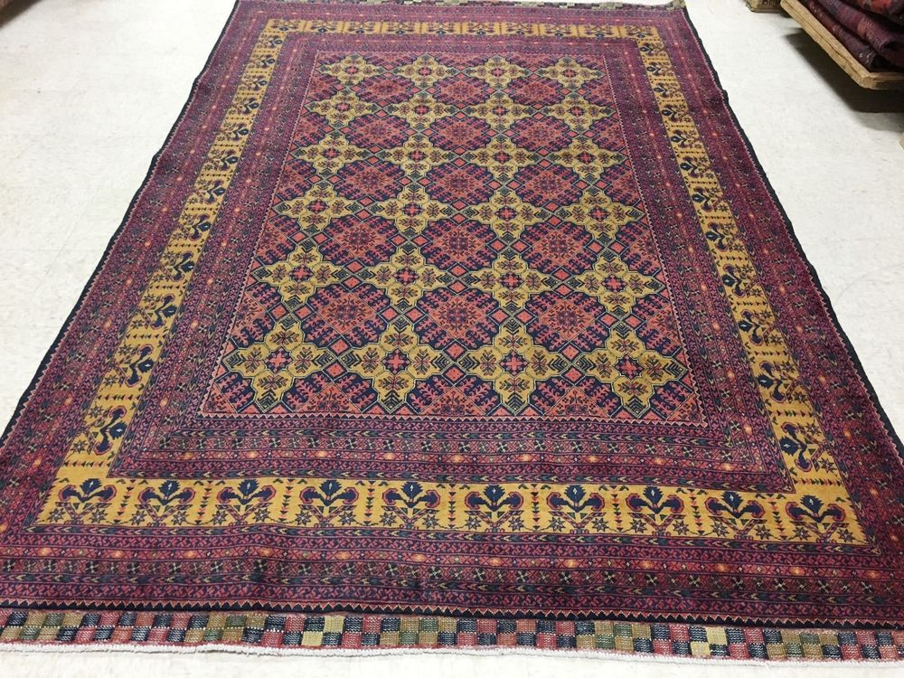 6 4 X 9 1 Afghan Kunduz Tribal Hand Knotted Wool Red
