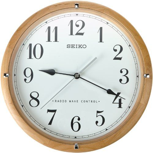 Seiko Qxr303z Radio Controlled Wooden Wall Clock Seiko Http Www Amazon Co Uk Dp B00cbstq6i Ref Cm Sw R Pi Dp Fzlqvb197gd6h Clock Large Wall Clock Wall Clock
