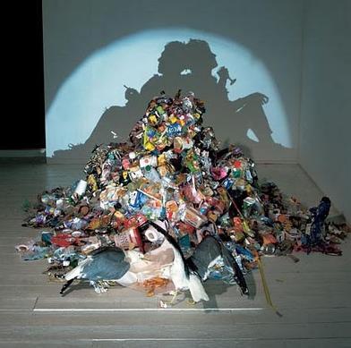 Trash Mountain 20x200 Trash Trash Art