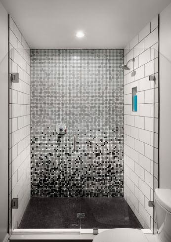 pine st residence custom gradient tile pattern design