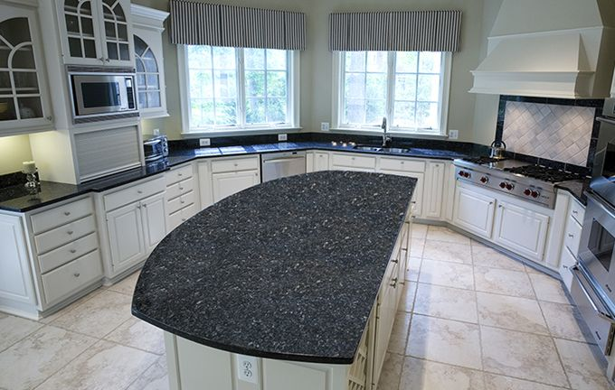Blue Pearl Granite Countertops With White Cabinets | Sales: Gallery 27  photos Get a Free