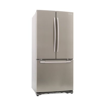 Samsung 33 In W 17 5 Cu Ft French Door Refrigerator In Stainless Platinum Counter Dept Fridge French Door Counter Depth Refrigerator French Doors