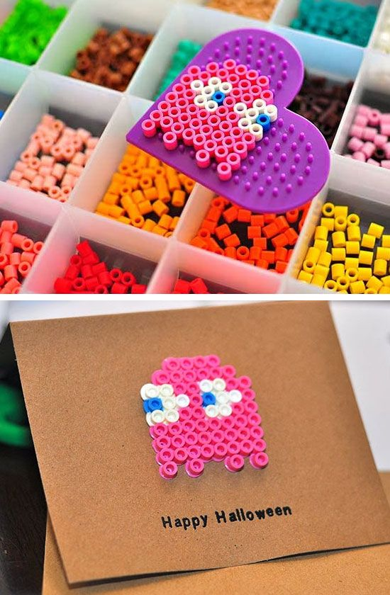 Bead Craft Ideas For Kids Part - 15: 20+ Super Easy Halloween Crafts For Kids To Make!