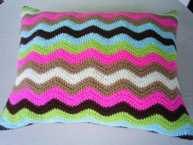 ripple cushion cover by riavandermeulen, via Flickr