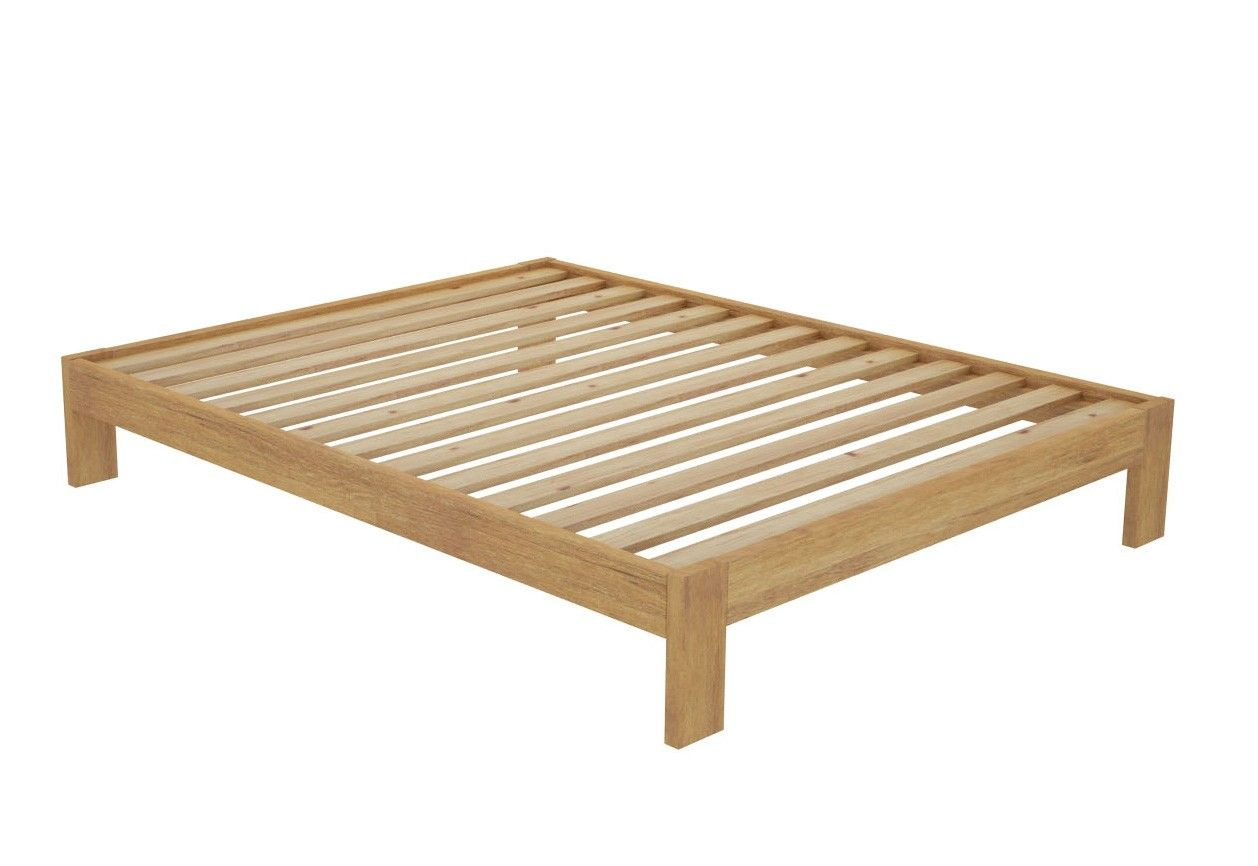 California Custom Timber Bed Frame without Headboard