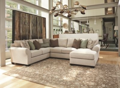 Awe Inspiring Wilcot 4 Piece Loveseat Sectional By Ashley Homestore Linen Pabps2019 Chair Design Images Pabps2019Com