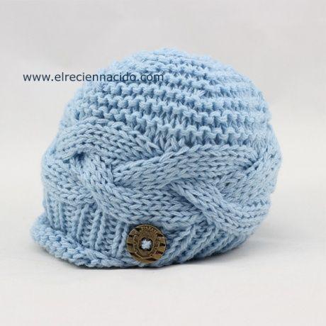Gorra para bebé niño de crochet Simpático gorrito para bebé o recién nacido  niño 007c2d35e1f