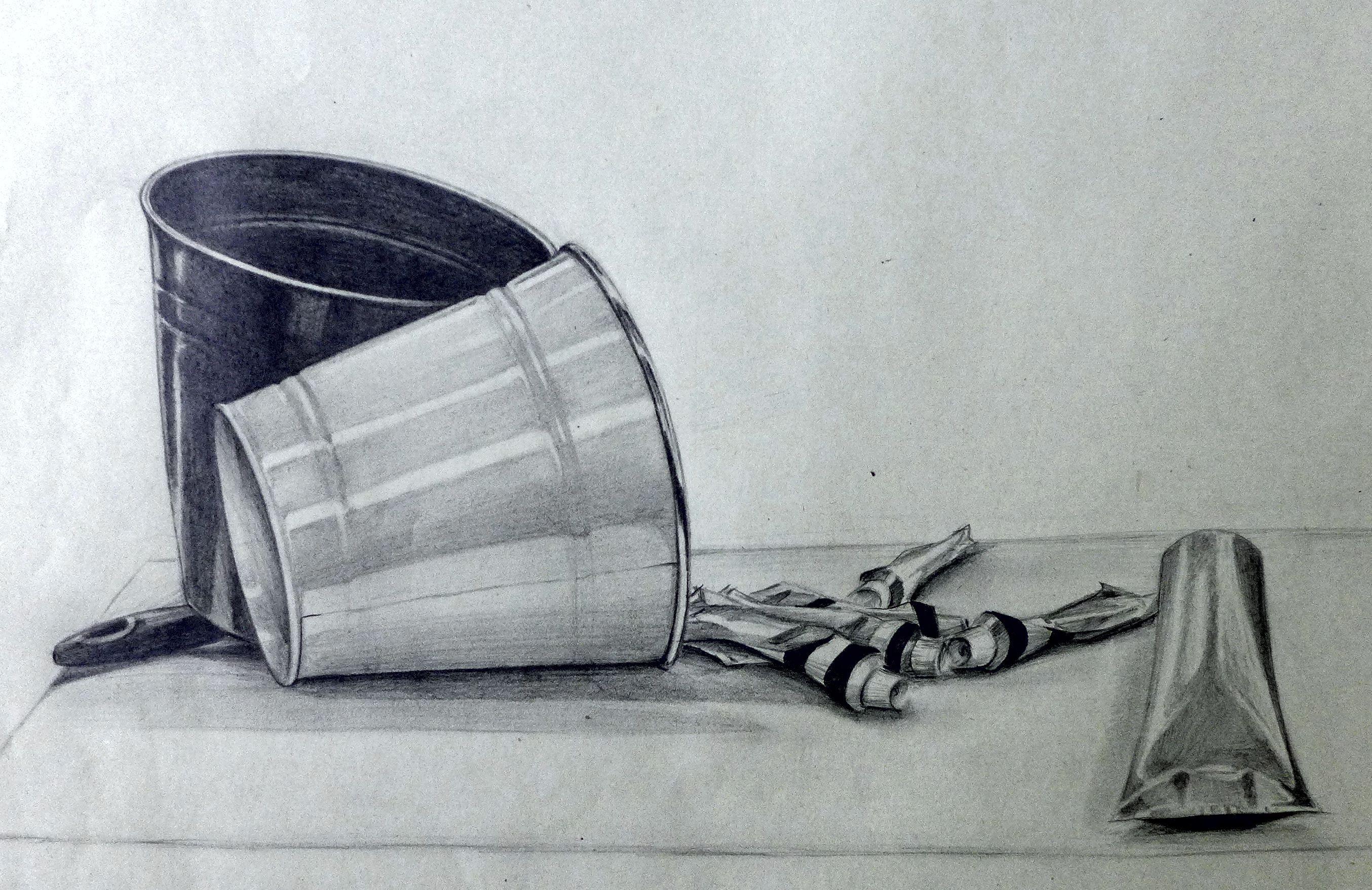 Kresba tužkou - zátišie | Dizajn - priemyselný dizajn, 1-2 ročník ...