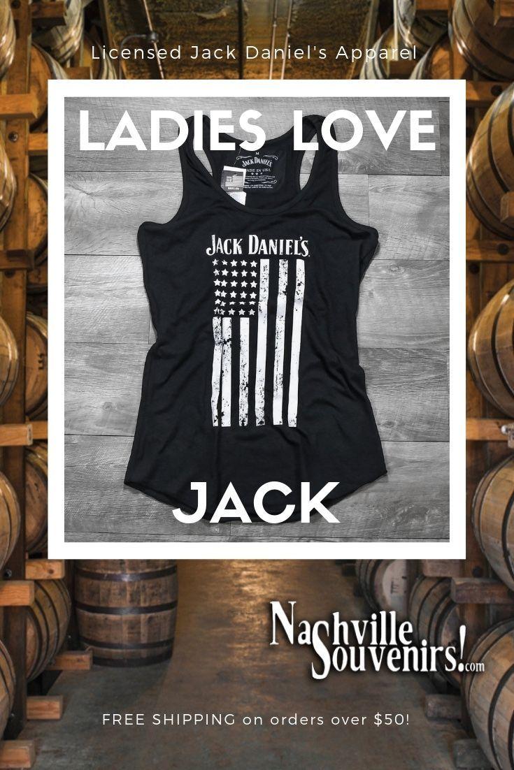Jack Daniel's Women's Vertical Flag Tank Top Officially