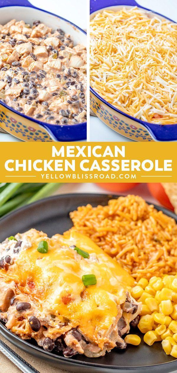 Mexikanischer Hühnerauflauf #creamychickencasserole